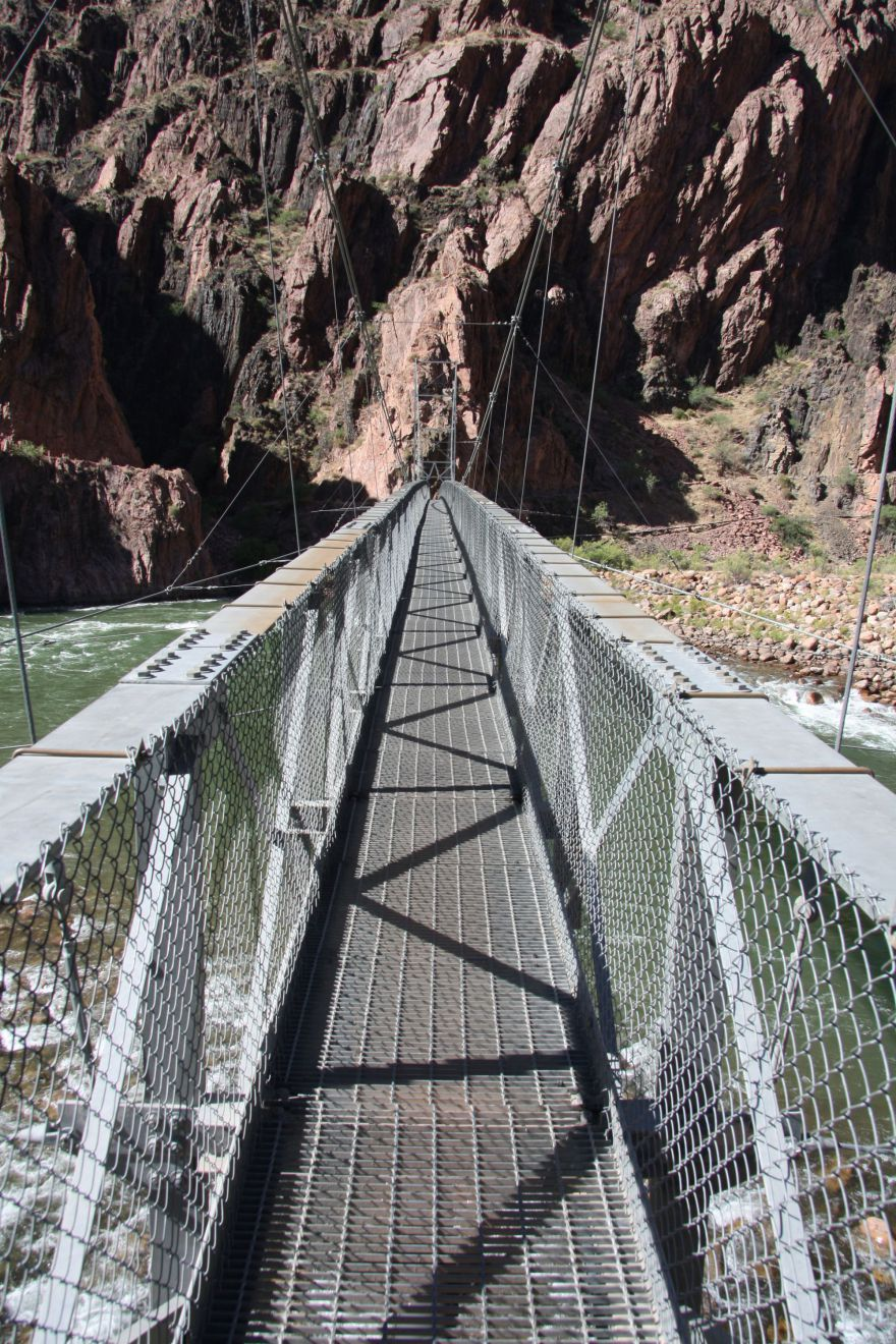 Hangbrug over de Colorado River