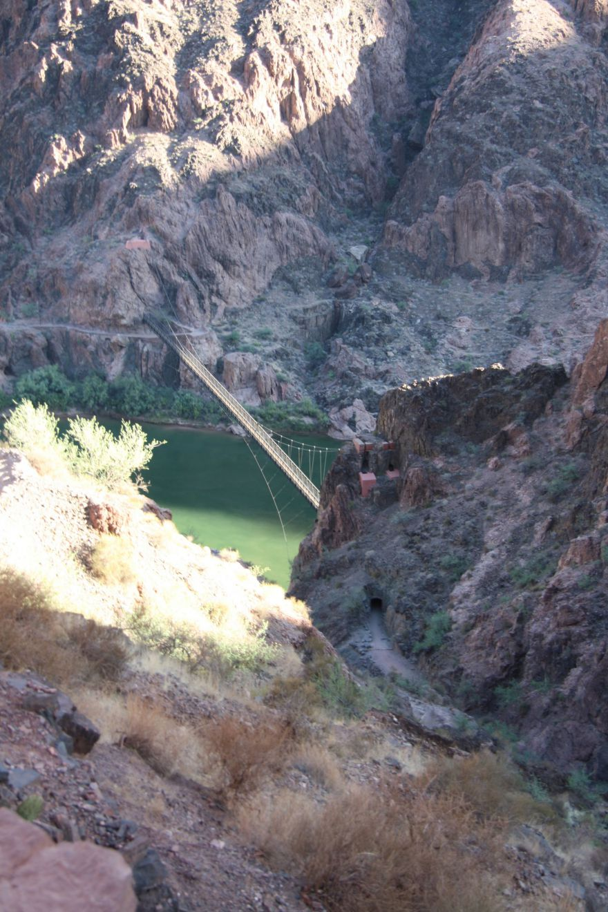 Looking down at the Colorado River