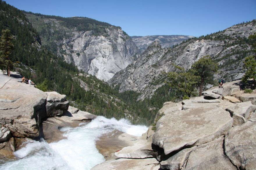 View from Nevada Falls in Yosemite National Park