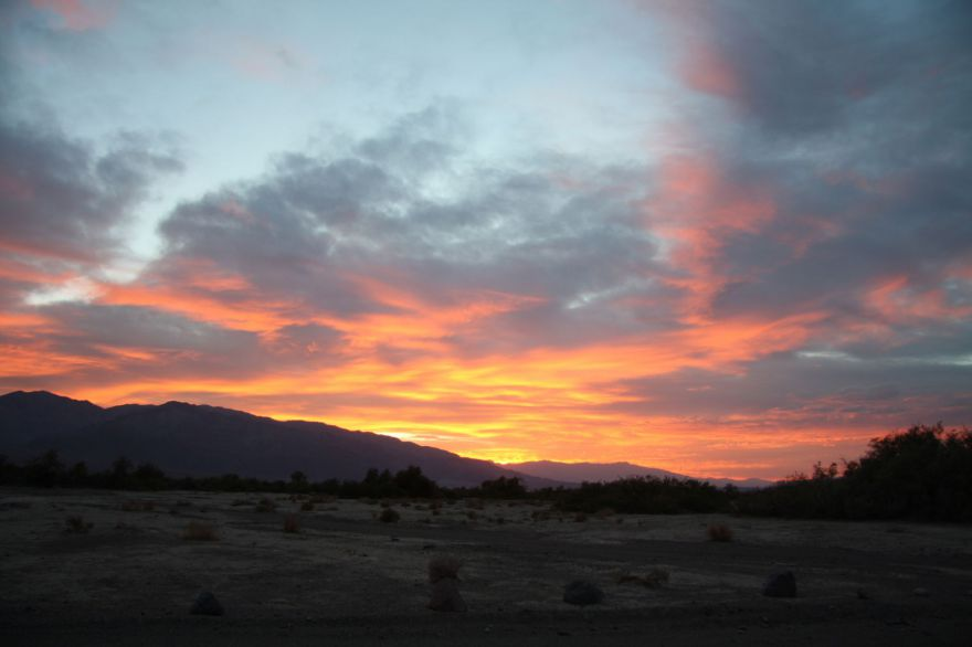 Evening sky in Death Valley National Park