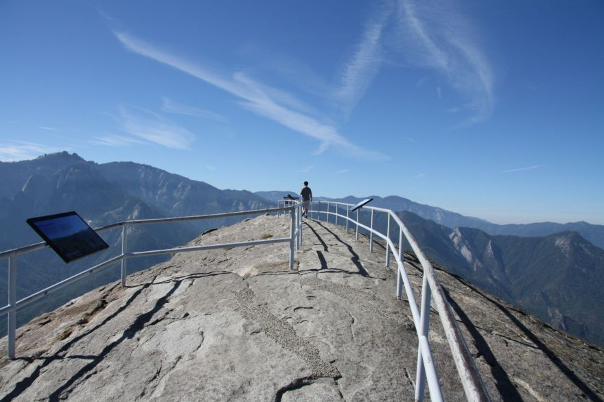 At the top of Moro Rock